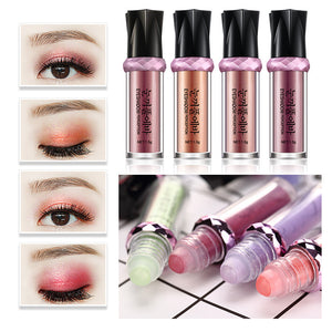 ELECOOL 3 Colors Crystal Glans Glitter Monochrome Shimmer Warm Make Up Single Eye Pigment Make