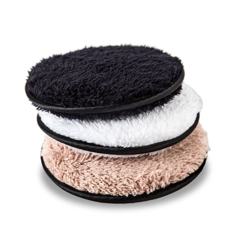 Reusable Makeup Remover Microfiber Cloth Pads Remover Towel Face Cleansing Cleaner Plush Puff Make up Lazy Cleansing Powder Puff