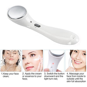 Ultrasonic Facial Beauty Device Iontophoresis Face Cleaner Anti aging Wrinkle Removal Face Skin Lift Massager Beauty Care Tools