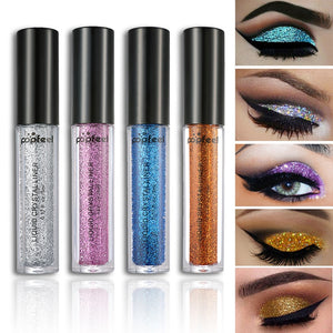 12 Colors Glitter Liquid Eye Shadow Shimmer Sparkles Laser Eyeshadow Powder Women Diamond  Shiny Beauty Makeup Comestics