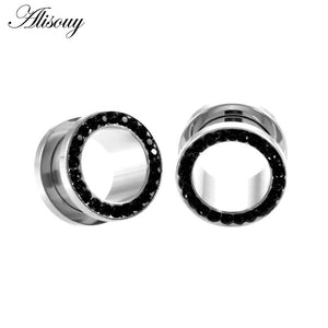 1pc 316L Stainless Steel Ear Plugs and Tunnels Ear Piercings Earlets Screwed Earring Expander Ear Gauges Body Jewelry Piercings