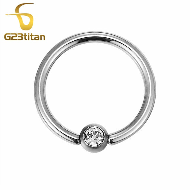 G23 Titanium Basic General Body Piercing Rings Ear Studs Eyebrow Nipple Nose Labret Septum Lip Segment Rings Industrial Barbell