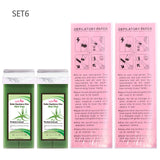 Hair Removal Wax for Depilation Cream 100g Depilatory Wax Cartridge Roll On Wax Strips Heater Machine Different Set Optional