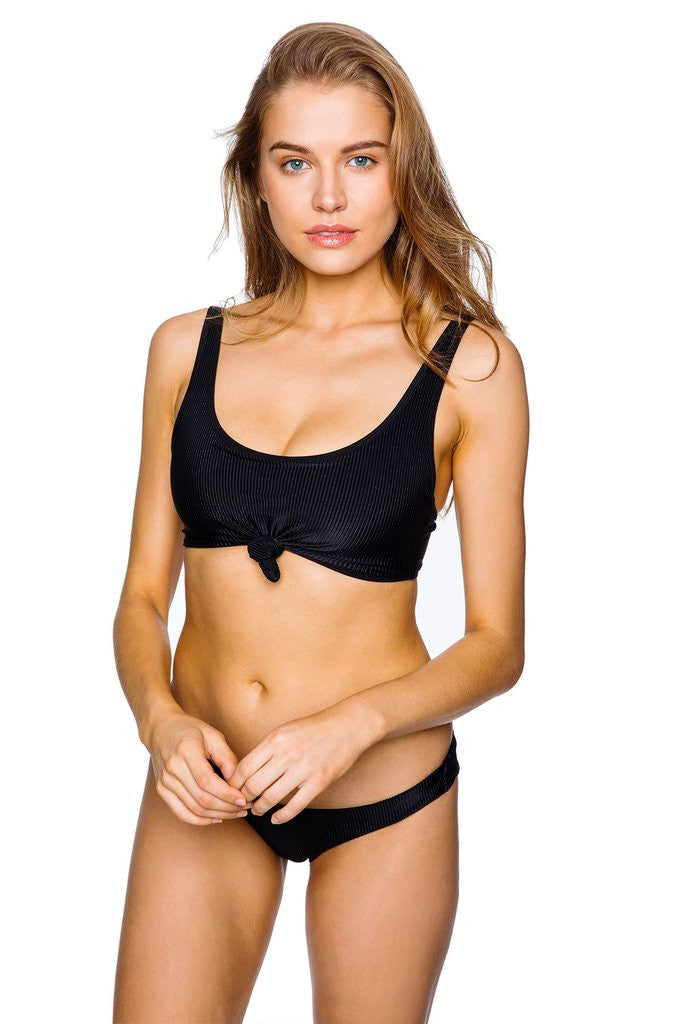 e8586a9fe6e65 FRANKIES BIKINIS - Greer Top in Black Rib
