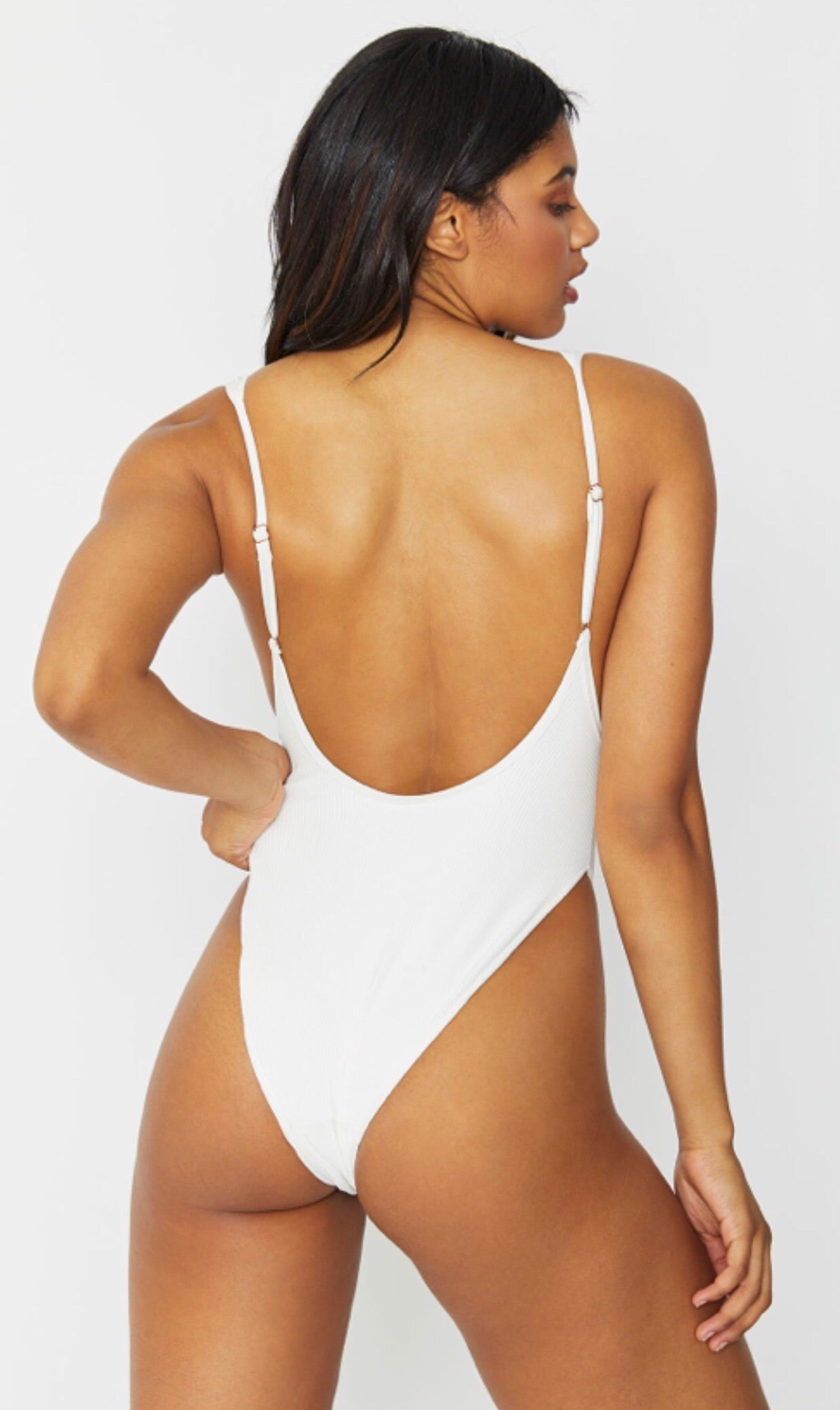 b623f13a298f6 FRANKIES BIKINIS - Adele One Piece in White Rib - Love xo Piper