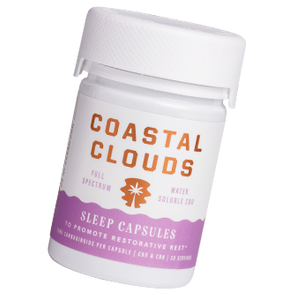 Coastal Clouds Sleep Capsule 30 Count (15MG per Capsule) - bellacanna hemp products - best selling cbd brands