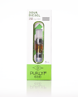 PURLYF SOUR DIESEL CARTS 250 MG  FULL SPECTRUM - bellacanna hemp products - best selling cbd brands