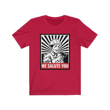 Load image into Gallery viewer, Laborers & Tradies: We salute you - Classic Tee - Caffeination World