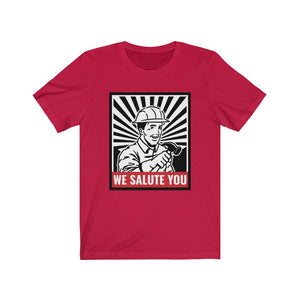Laborers & Tradies: We salute you - Classic Tee - Caffeination World