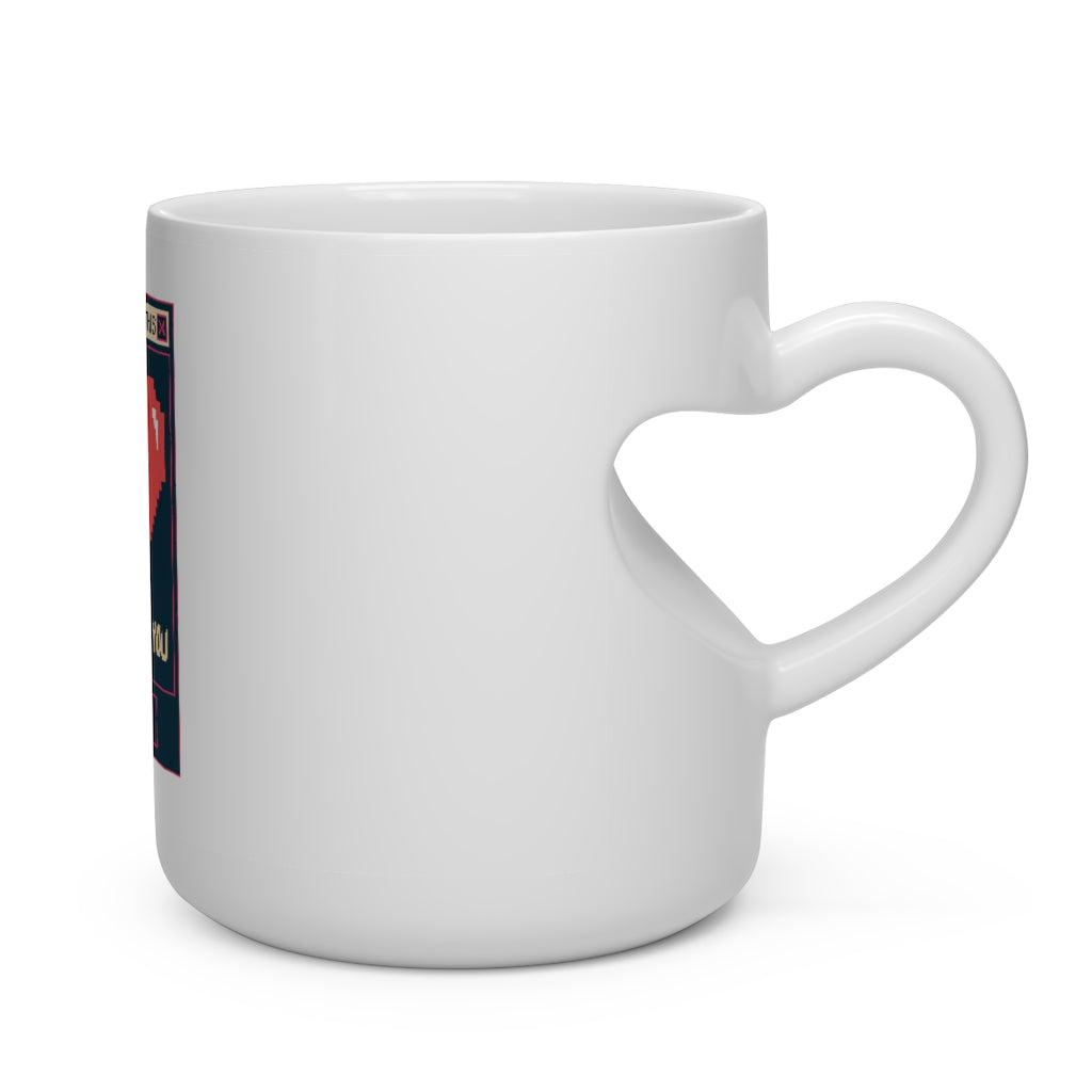 Valentine's: This heart beats for you - Heart Shape Mug - Caffeination World