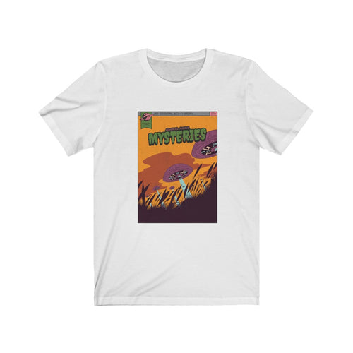 Book Cover: Mysteries - Classic Tee - Caffeination World