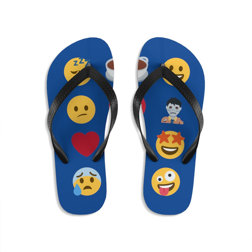 Coffee emojis - Unisex Flip-Flops - Caffeination World