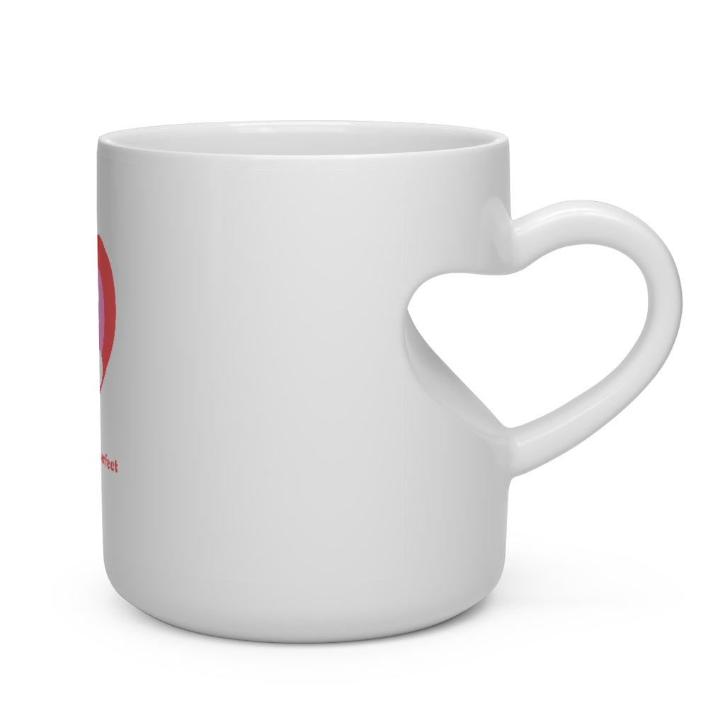 Valentine's: My love, you are perfect - Heart Shape Mug - Caffeination World
