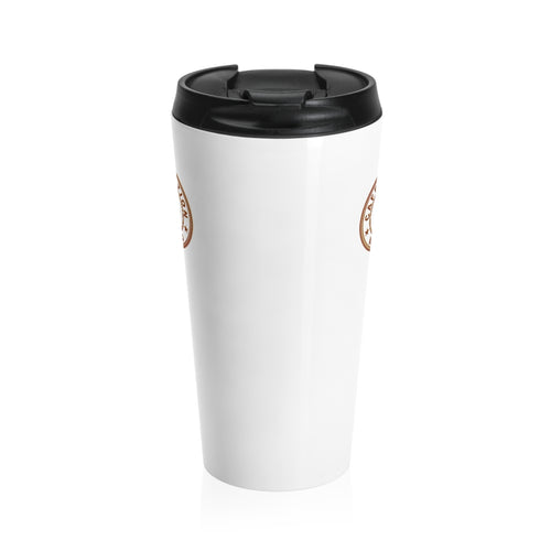 White color- Stainless Steel Travel Mug - Caffeination World