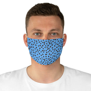 Coffee pattern (brown + blue) - Fabric Face Mask - Caffeination World