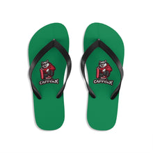 Load image into Gallery viewer, Powered by caffeine - Unisex Flip-Flops - Caffeination World