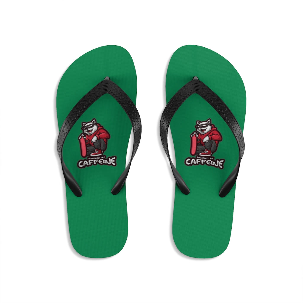 Powered by caffeine - Unisex Flip-Flops - Caffeination World
