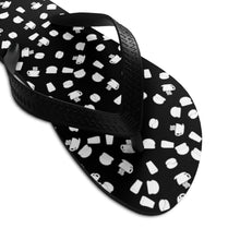 Load image into Gallery viewer, Coffee pattern (black + white) - Unisex Flip-Flops - Caffeination World