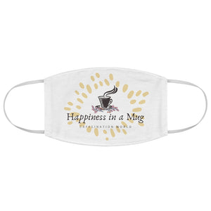 Happiness in a mug - Fabric Face Mask - Caffeination World