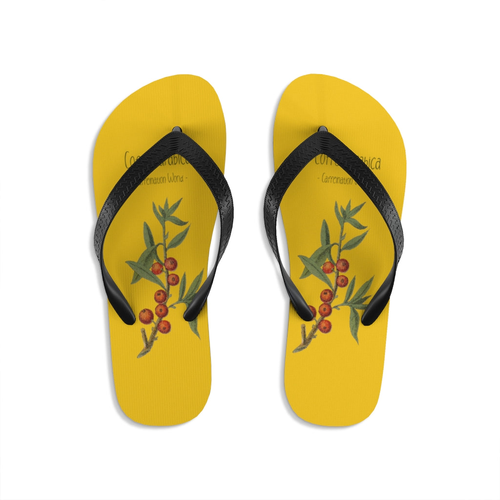 Coffeea arabica - Unisex Flip-Flops - Caffeination World