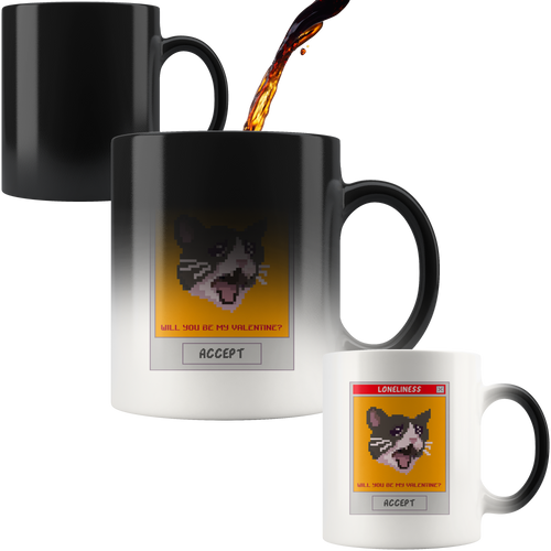 Loneliness Cat - Magic Mug 110z - Caffeination World