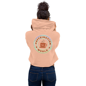 Crop Hoodie - Happiness in a mug - Caffeination World