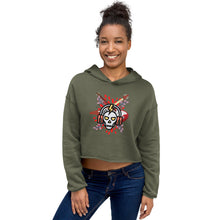 Load image into Gallery viewer, Crop Hoodie - Coffee rocks - Caffeination World