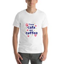 Load image into Gallery viewer, I love cats and coffee - Premium Tee - Caffeination World