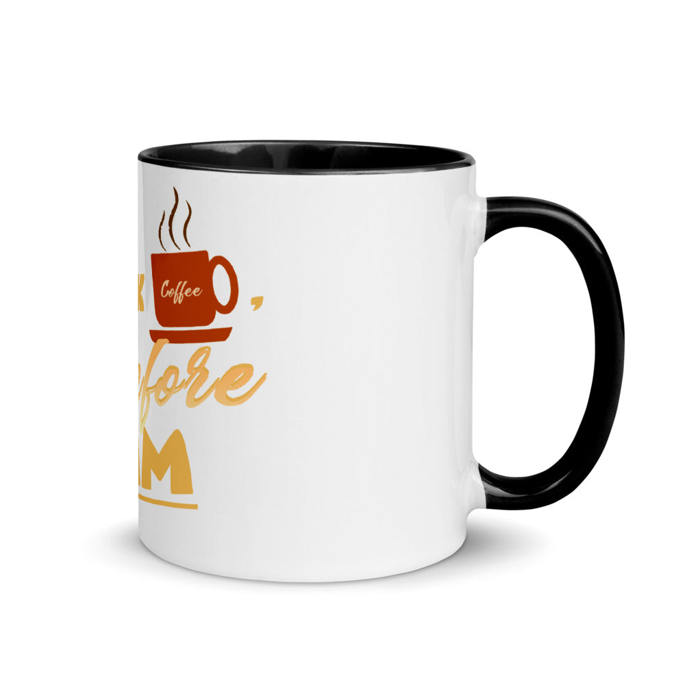 Premium Mug - I drink coffee, therefore I am - Caffeination World