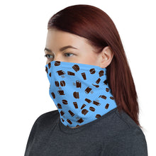 Load image into Gallery viewer, Neck Gaiter | Coffee pattern - blue - Caffeination World