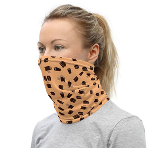 Neck Gaiter | Coffee pattern - orange - Caffeination World