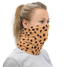 Load image into Gallery viewer, Neck Gaiter | Coffee pattern - orange - Caffeination World