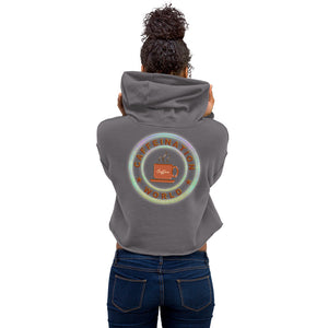 Crop Hoodie - Mon powered by coffee - Caffeination World