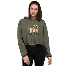 Load image into Gallery viewer, Crop Hoodie - Pugs and coffee lifestyle - Caffeination World