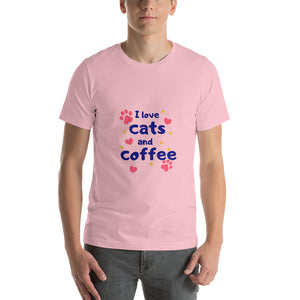 I love cats and coffee - Premium Tee - Caffeination World