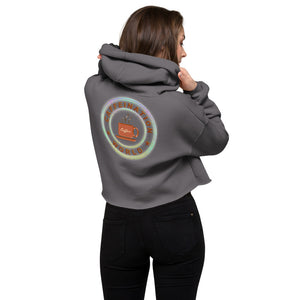 Crop Hoodie - Workout powered by coffee - Caffeination World