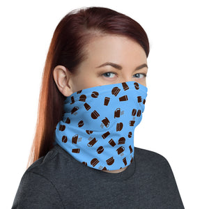 Neck Gaiter | Coffee pattern - blue - Caffeination World