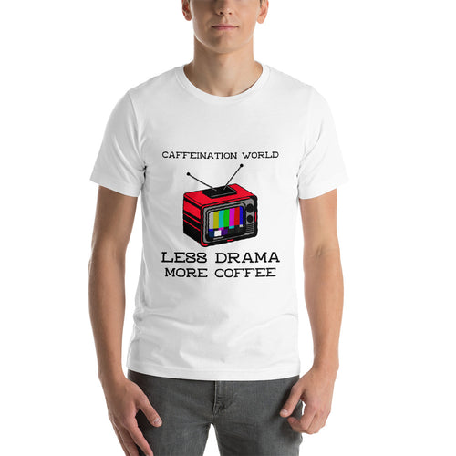 Less drama, more coffee - Premium Tee - Caffeination World