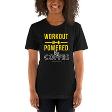 Load image into Gallery viewer, Workout powered by coffee - Premium Tee - Caffeination World