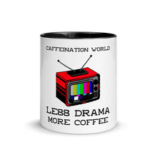 Load image into Gallery viewer, Premium Mug - Less drama, more coffee - Caffeination World