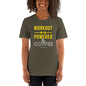 Workout powered by coffee - Premium Tee - Caffeination World