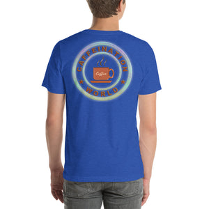Marketer powered by coffee - Premium Tee - Caffeination World