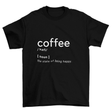 Load image into Gallery viewer, Coffee definition - Premium Tee - Caffeination World