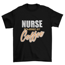 Load image into Gallery viewer, Nurse powered by coffee - Premium Tee - Caffeination World