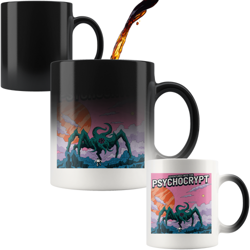 Sci-fi Adventures Into The Psychocrypt - Magic Mug 110z - Caffeination World