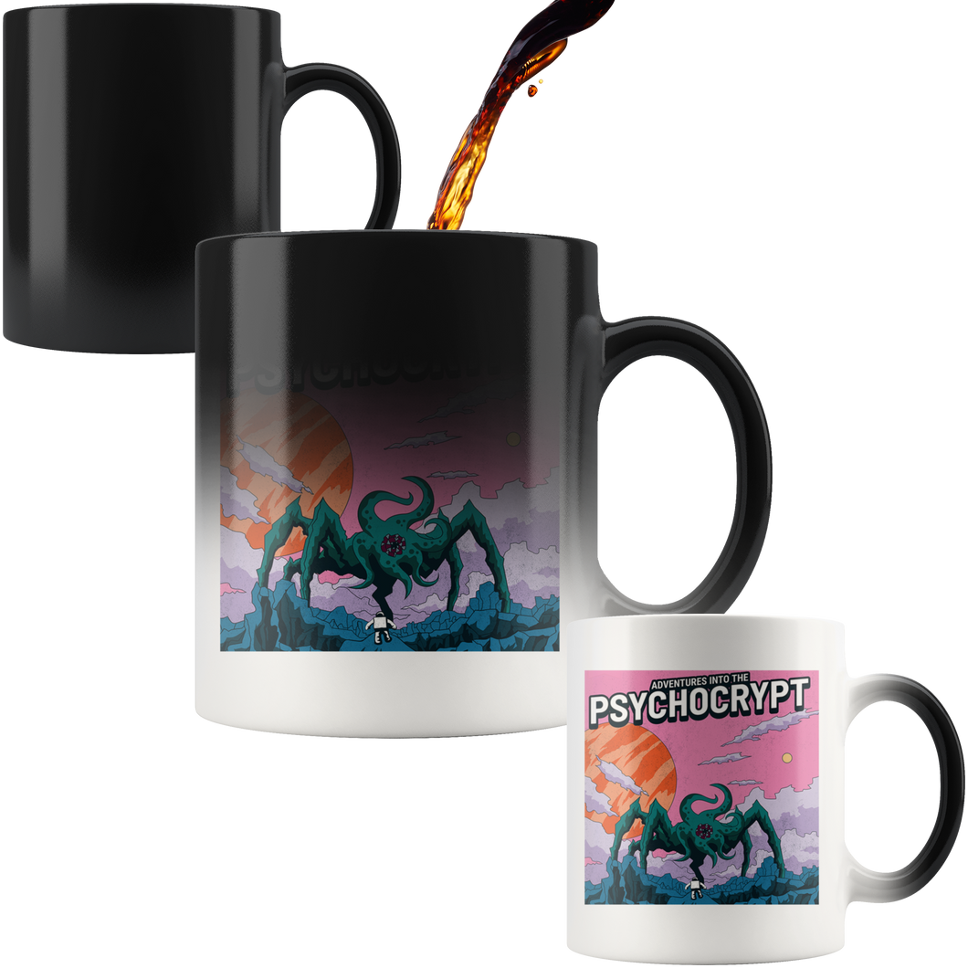 Sci-fi Adventures Into The Psychocrypt - Magic Mug 11 oz - Caffeination World