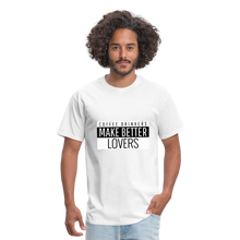 Load image into Gallery viewer, Coffee drinkers make better lovers - Classic T-shirt - Caffeination World
