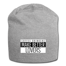 Load image into Gallery viewer, Coffee drinkers make better lovers - Jersey Beanie - Caffeination World