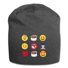 Load image into Gallery viewer, Coffee emojis - Jersey Beanie - Caffeination World
