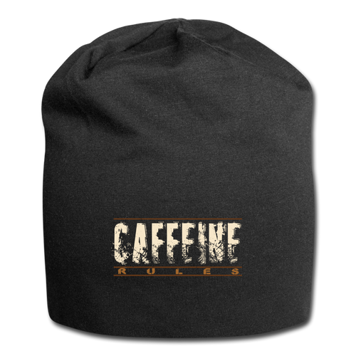 Caffeine rules - Jersey Beanie - Caffeination World